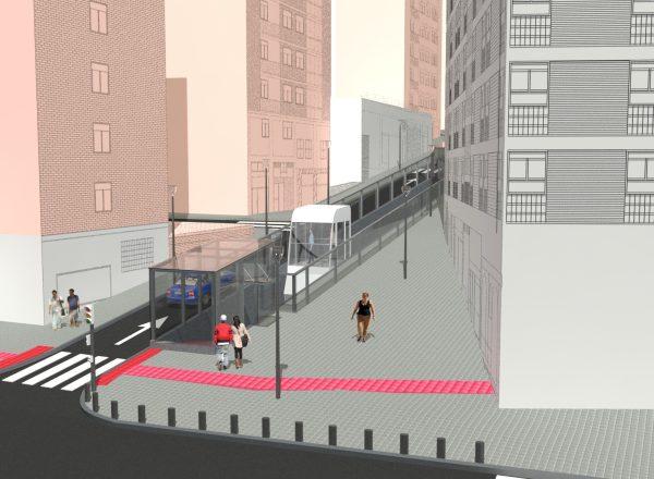 Implantación de accesos mecánicos en la calle Marqués de Laurencín (Bilbao)