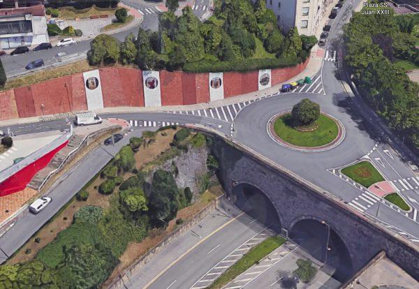 Construcción de Rotonda y Revestimiento en el Muro de la calle San Isidro