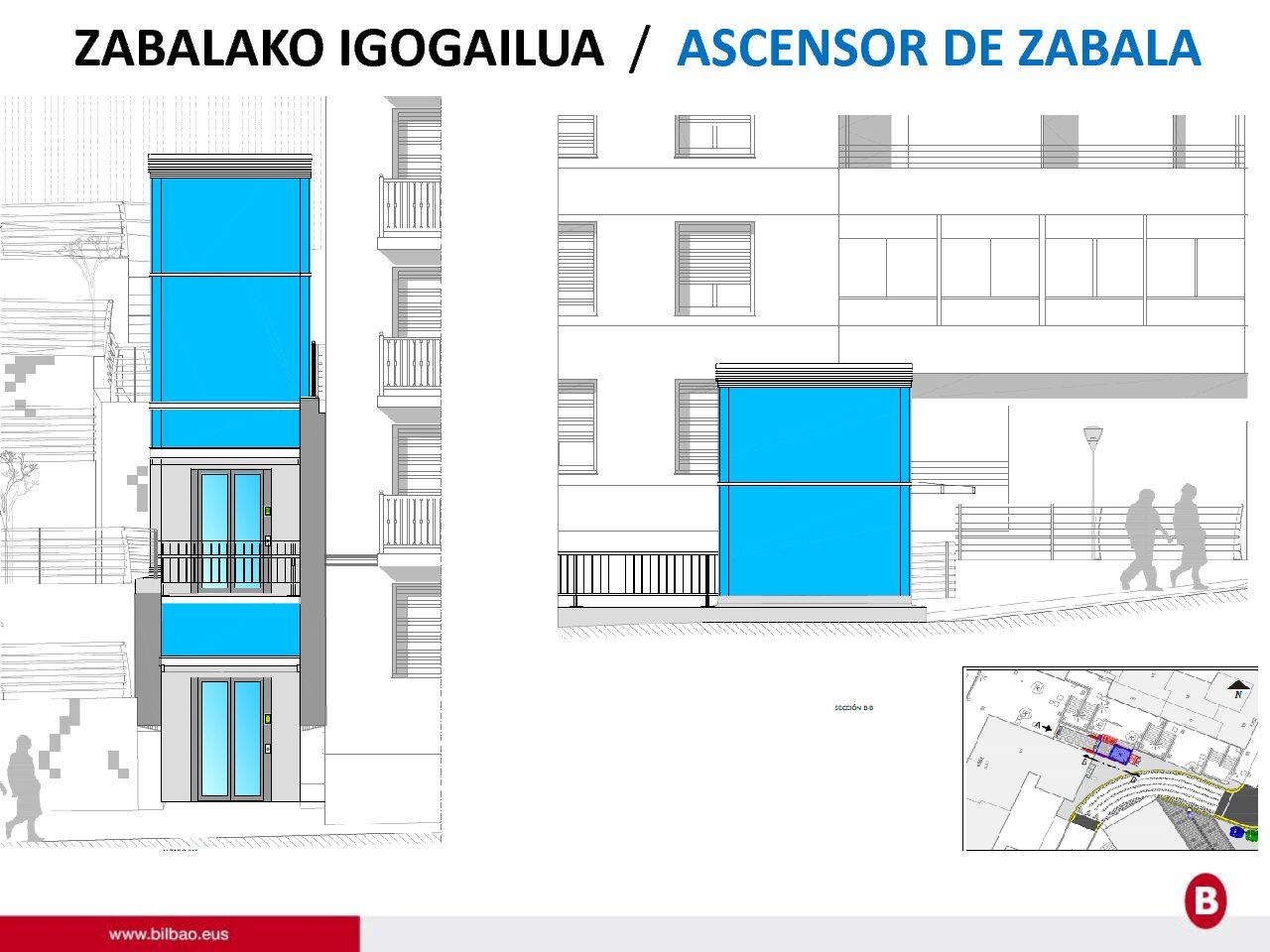 Implantación de ascensor en la calle Tenor Constantino del Barrio Zabala