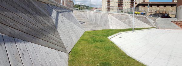 Obras para urbanizar el soterramiento de las vías de Feve entre las calles Sabino Arana y el puente Gordoniz