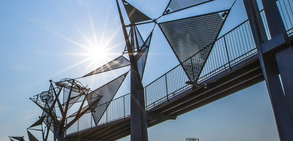 Obras de integración paisajística en el medio urbano: Itinerario de visitantes, EDAR Galindo
