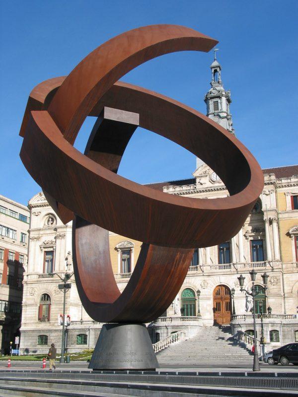 Proyecto de instalación de la escultura – Variante Ovoide de la Desocupación de la Esfera (Jorge Oteiza)