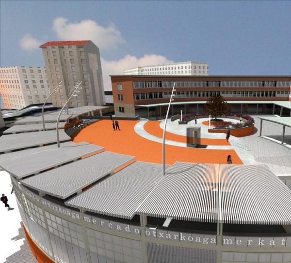 Urbanización de plaza sobre el Mercado de Otxarkoaga y rehabilitación de fachada y accesos