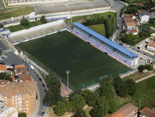 Fase I obra civil de la remodelación del campo de futbol de «San Jorge», en el barrio de Cabieces, de Santurtzi