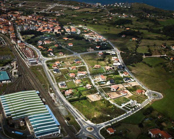 Urbanización del sector residencial de Zaldu, en Sopelana