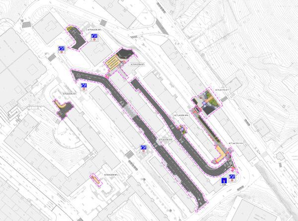 Proyecto de mejora de la accesibilidad a las calles Bakio,Gorliz,Santurtzi,Plentzia,Tutulu y Vía Vieja de Lezama.Bilbao