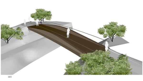 Sustitución de dos pasarelas peatonales sobre el río Granada