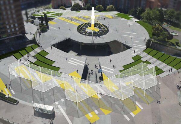 Remodelación de la Plaza de Cruces en Barakaldo