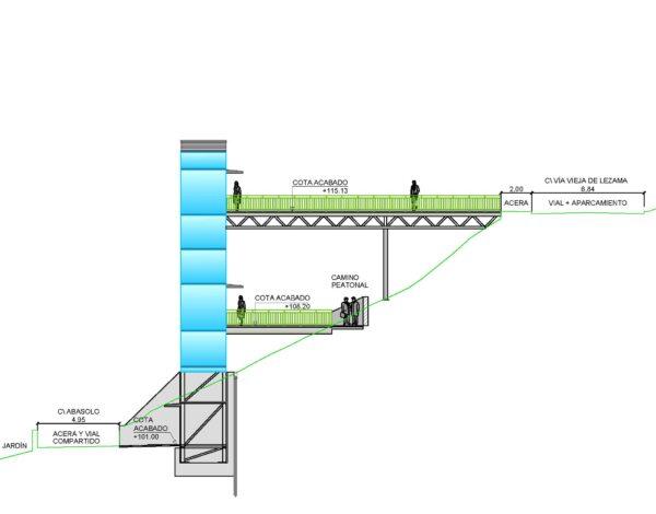 Proyecto de instalación de ascensor en la calle Abasolo en Bilbao